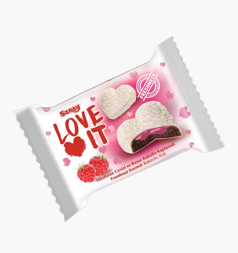 Бисквит в белой глазури  Love It Cake Raspberry