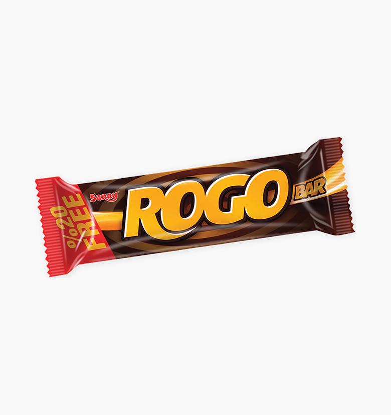 Бар с молочным шоколадом, карамелью и нугой Rogo