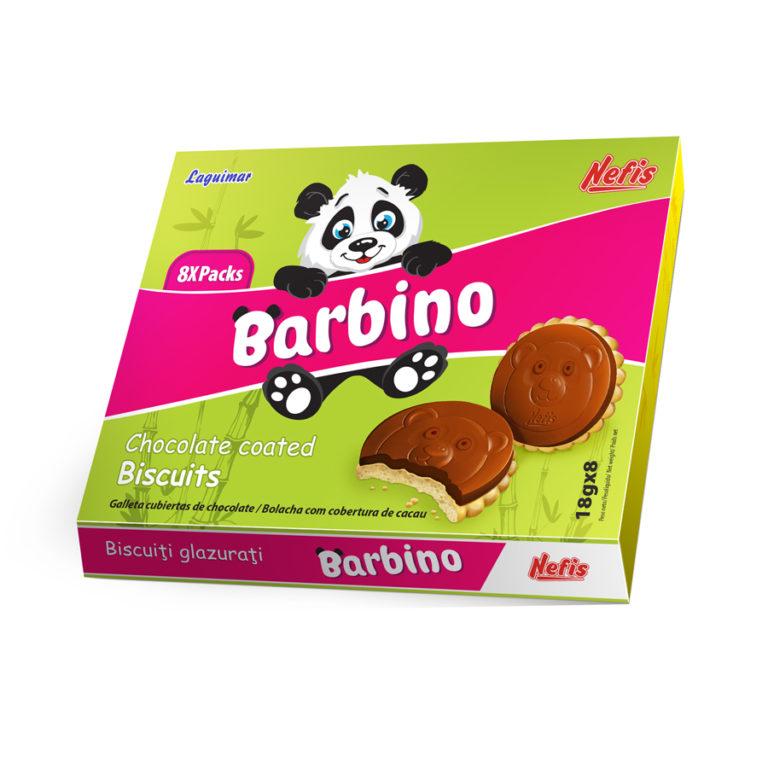 BARBINO (18G X 8 гр). Печенье затяжное глазированное печенье с ванильным ароматом