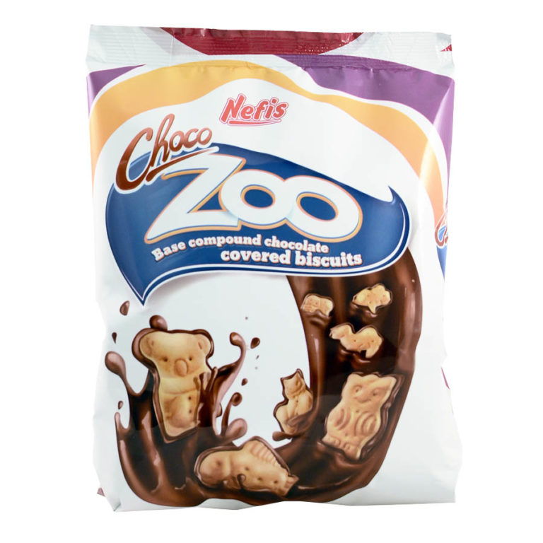 CHOCO-ZOO. Печенье затяжное различной формы с глазированной нижней поверхностью