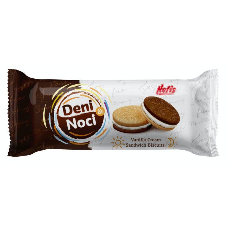 DENI I NOCI. Двойное печенье с ванильным кремом