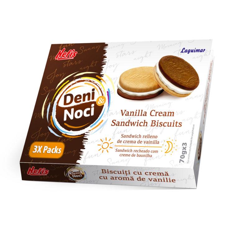 DENI I NOCI (70 гр X 3). Двойное печенье с ванильным кремом