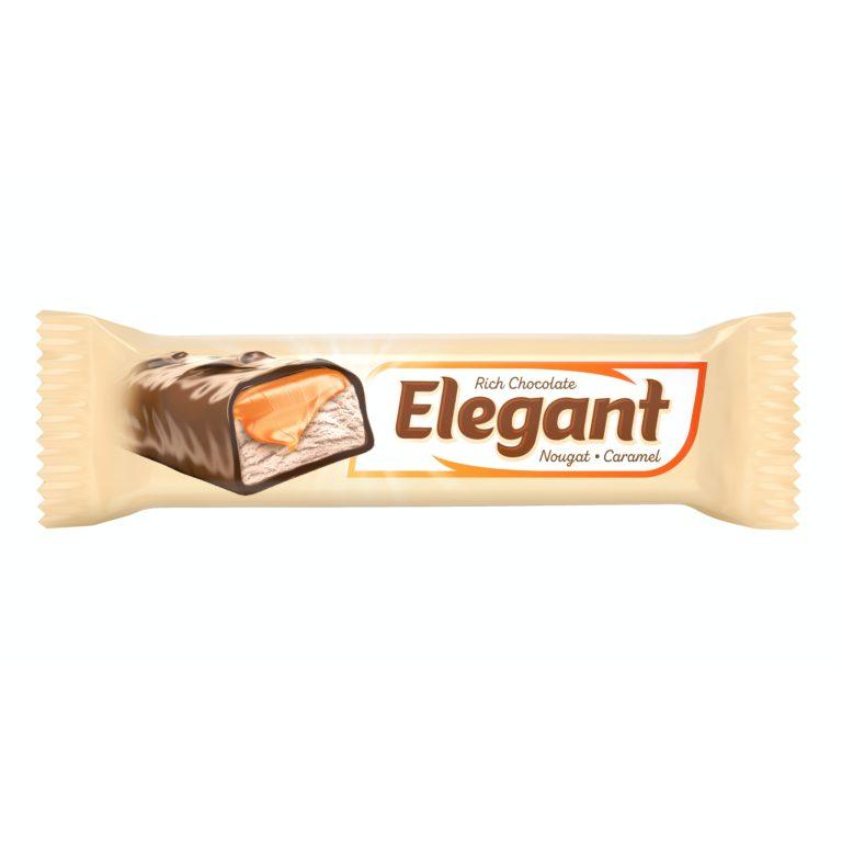 ELEGANT. Глазированный батончик  с нугой и молочной карамелью