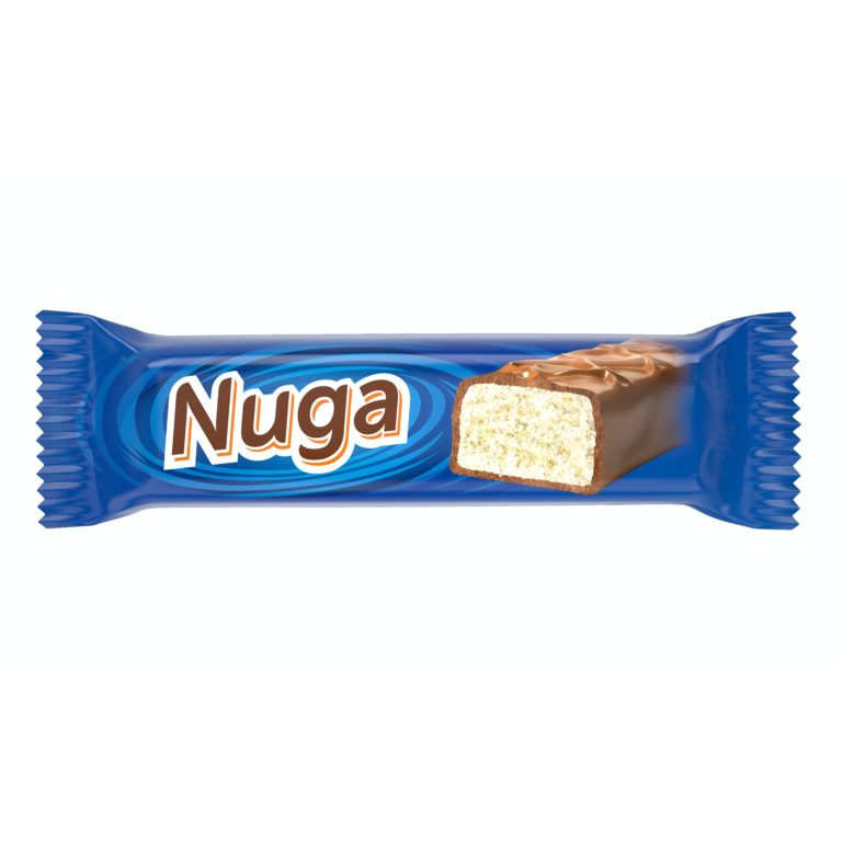NUGA. Глазированный батончик с молочной нугой
