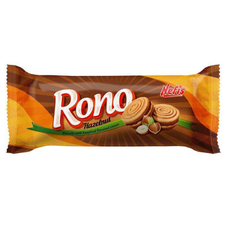 RONO cream hazelnut. Двойное сахарное печенье с ореховым кремом