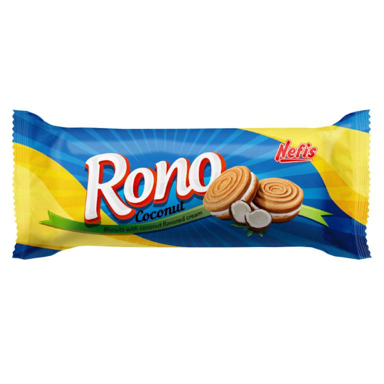 RONO cream coconut. Двойное сахарное печенье с кремом с кокосовым ароматом