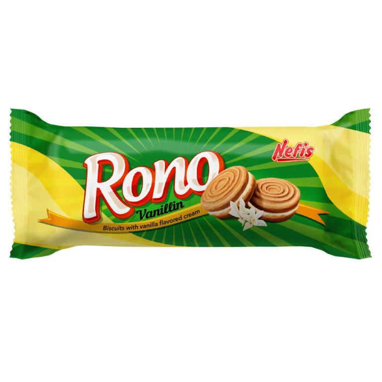 RONO cream vanilin. Двойное сахарное печенье с ванильным кремом