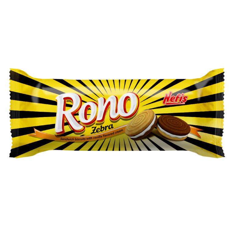 RONO ZEBRA. Двойное сахарное печенье с какао и ванильным кремом